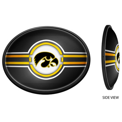 Iowa Hawkeyes Slimline Illuminated Team Spirit Wall Sign-Oval-Tigerhawk | Grimm Industries |IA-140-01