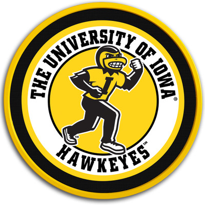 Iowa Hawkeyes 17 inch Team Disc Wall Sign-Herky | Grimm Industries |IA-230-02