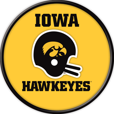 Iowa Hawkeyes 17 inch Team Disc Wall Sign-Helmet Vintage | Grimm Industries |IA-230-03