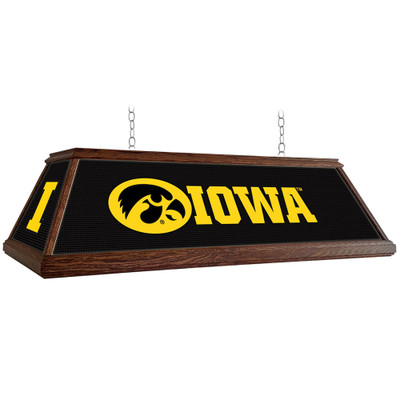 Iowa Hawkeyes 49 inch Premium Deluxe Wood Pool Table Light-Block I | Grimm Industries |IA-330-02