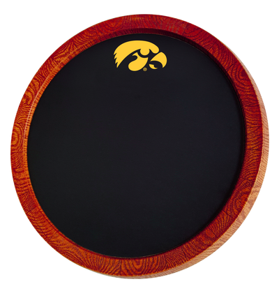 Iowa Hawkeyes 20 inch Barrel Team Logo Chalkboard-Tigerhawk | Grimm Industries |IA-630-01