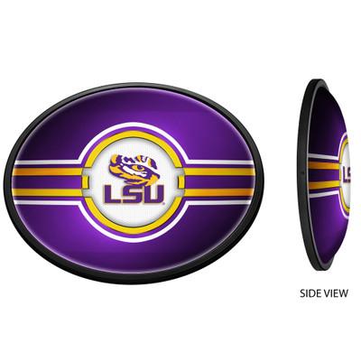 LSU Tigers Slimline Illuminated Team Spirit Wall Sign-Oval-Primary Logo | Grimm Industries |LS-140-01