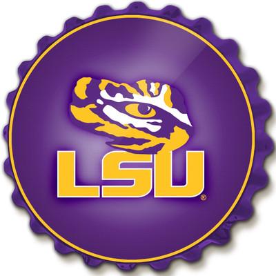 LSU Tigers Team Spirit Bottle Cap Wall Sign-Primary Logo | Grimm Industries |LS-210-01