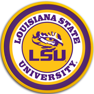LSU Tigers 17 inch Team Disc Wall Sign-Primary Logo | Grimm Industries |LS-230-01