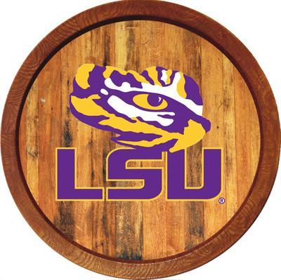 LSU Tigers 20 inch Barrel Team Logo Wall Sign-Primary Logo-Color | Grimm Industries |LS-240-02