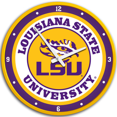 LSU Tigers 17 inch Team Disc Wall Clock-Primary Logo | Grimm Industries |LS-510-01