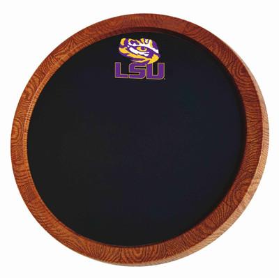LSU Tigers 20 inch Barrel Team Logo Chalkboard-Primary Logo | Grimm Industries |LS-630-01