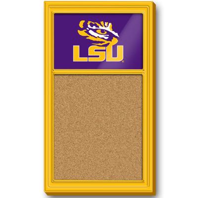 LSU Tigers Team Board Corkboard-Primary Logo-Gold | Grimm Industries |LS-640-01