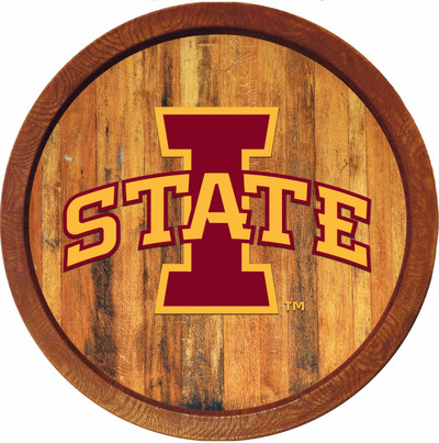 Iowa State Cyclones 20 inch Barrel Team Logo Wall Sign-Primary Logo-Color | Grimm Industries |IS-240-01