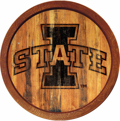 Iowa State Cyclones 20 inch Barrel Team Logo Wall Sign-Primary Logo-Branded | Grimm Industries |IS-240-02