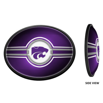 Kansas State Wildcats Slimline Illuminated LED Team Spirit Wall Sign-Oval--Primary Logo-Purple | Grimm Industries |KS-140-01