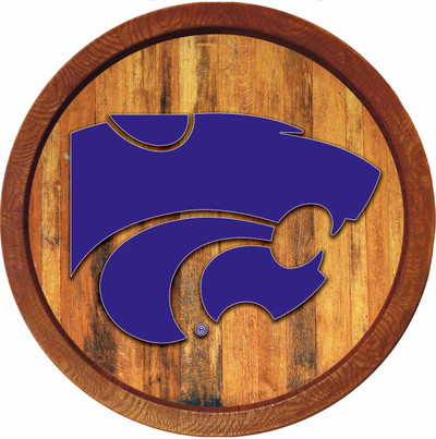 Kansas State Wildcats 20 inch Barrel Team Logo Wall Sign--Primary Logo-Color | Grimm Industries |KS-240-01