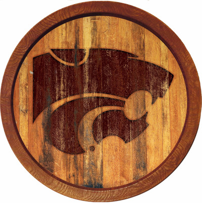 Kansas State Wildcats 20 inch Barrel Team Logo Wall Sign--Primary Logo-Branded | Grimm Industries |KS-240-02