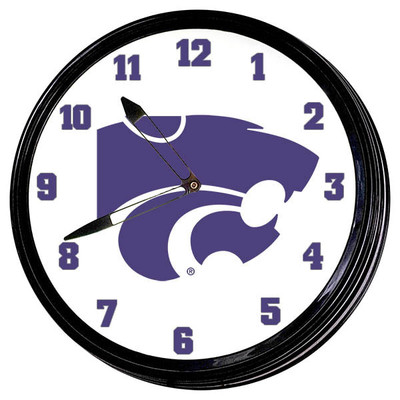 Kansas State Wildcats 19 inch Illuminated LED Team Spirit Clock--Primary Logo | Grimm Industries |KS-550-01
