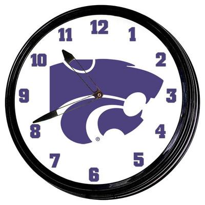 Kansas State Wildcats 19 inch Illuminated LED Team Spirit Clock--Primary Logo | Grimm Industries |KS-550-01