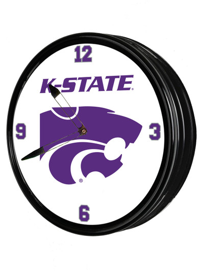 Kansas State Wildcats 19 inch Illuminated LED Team Spirit Clock--K-State | Grimm Industries |KS-550-02