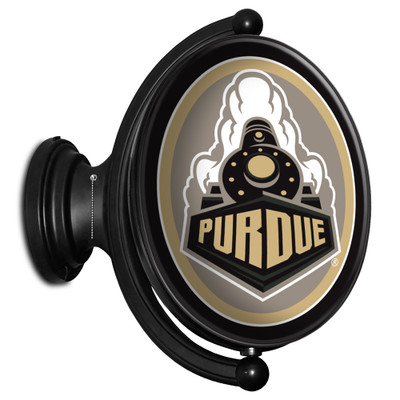 Purdue Boilermakers Rotating Illuminated LED Team Spirit Wall Sign-Oval---Seoncary Athletic Mark | Grimm Industries |PU-125-03