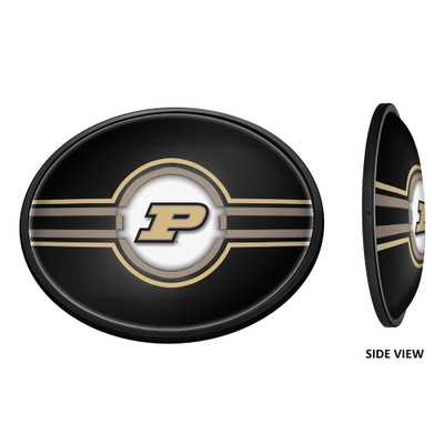 Purdue Boilermakers Slimline Illuminated LED Team Spirit Wall Sign-Oval--Primary Logo | Grimm Industries |PU-140-01
