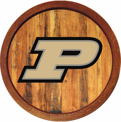 Purdue Boilermakers 20 inch Barrel Team Logo Wall Sign--Primary Logo-Color | Grimm Industries |PU-240-01