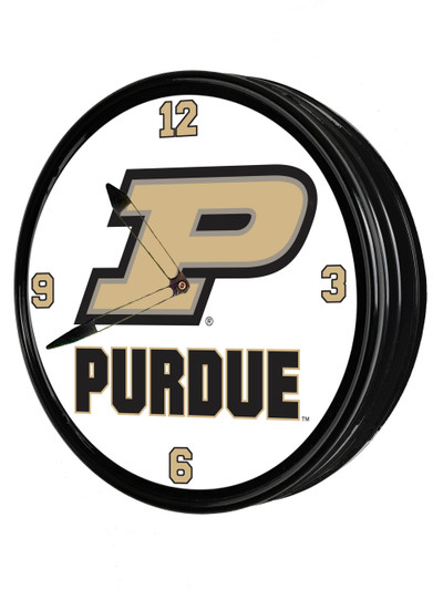 Purdue Boilermakers 19 inch Illuminated LED Team Spirit Clock--Primary Logo | Grimm Industries |PU-550-01