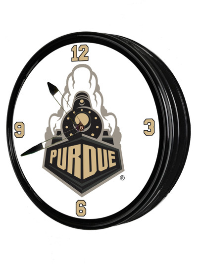 Purdue Boilermakers 19 inch Illuminated LED Team Spirit Clock--Train | Grimm Industries |PU-550-02