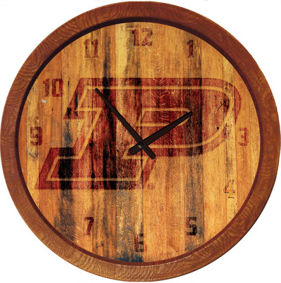 Purdue Boilermakers 20 inch Barrel Team Logo Wall Clock--Primary Logo-Branded | Grimm Industries |PU-560-02