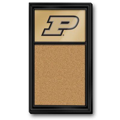 Purdue Boilermakers Team Board Corkboard--Primary Logo-Gold | Grimm Industries |PU-640-01