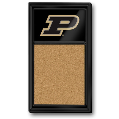 Purdue Boilermakers Team Board Corkboard--Primary Logo-Black | Grimm Industries |PU-640-02