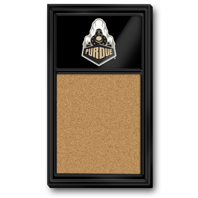 Purdue Boilermakers Team Board Corkboard--Train-Black | Grimm Industries |PU-640-04