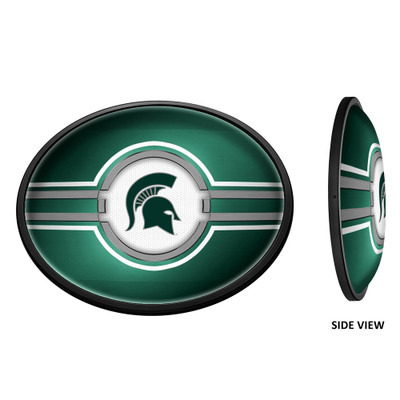 Michigan State Spartans Slimline Illuminated LED Team Spirit Wall Sign-Oval-Horizontal--Primary Logo | Grimm Industries |MS-140-01