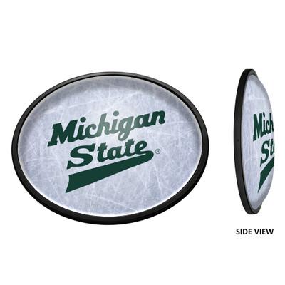 Michigan State Spartans Slimline Illuminated LED Team Spirit Wall Sign-Oval-Horizontal--Hockey | Grimm Industries |MS-140-03