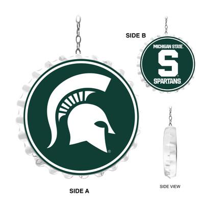 Michigan State Spartans Team Spirit Bottle Cap Dangler-Primary Logo and Block S | Grimm Industries |MS-220-02