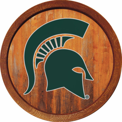 Michigan State Spartans 20 inch Barrel Team Logo Wall Sign--Primary Logo-Color | Grimm Industries |MS-240-01