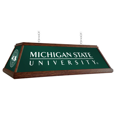 Michigan State Spartans 49 inch Premium Deluxe Wood Pool Table Light--Institution Logos | Grimm Industries |MS-330-01