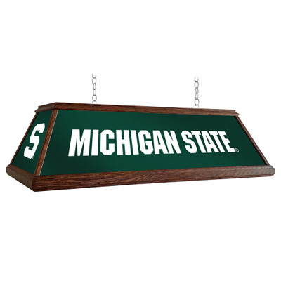 Michigan State Spartans 49 inch Premium Deluxe Wood Pool Table Light--Block S | Grimm Industries |MS-330-02
