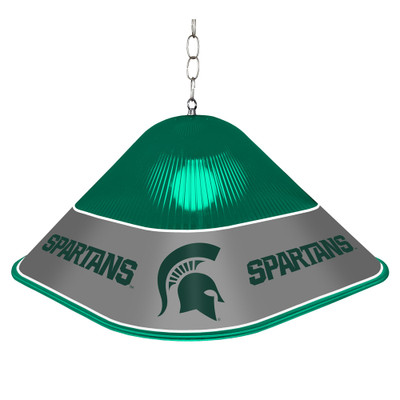 Michigan State Spartans Game Table Light-Square-Green | Grimm Industries |MS-410-01