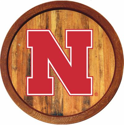Nebraska Huskers 20 inch Barrel Team Logo Wall Sign-Primary Logo-Color | Grimm Industries |NB-240-01