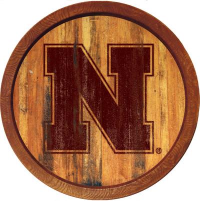 Nebraska Huskers 20 inch Barrel Team Logo Wall Sign-Primary Logo-Branded | Grimm Industries |NB-240-02
