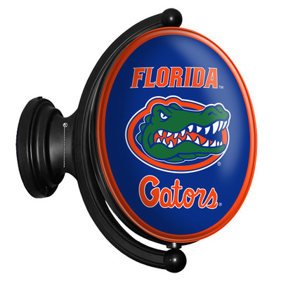 Florida Gators Rotating Illuminated LED Team Spirit Wall Sign-Oval-Primary Logo | Grimm Industries |UF-125-01