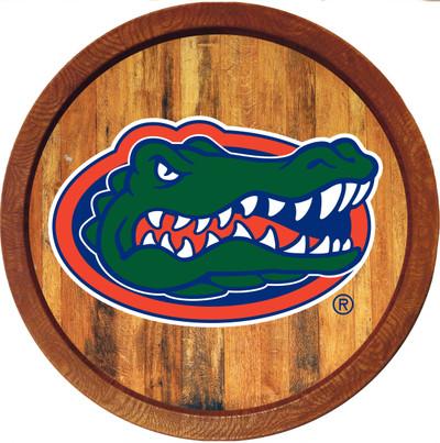 Florida Gators 20 inch Barrel Team Logo Wall Sign-Primary Logo-Color | Grimm Industries |UF-240-01