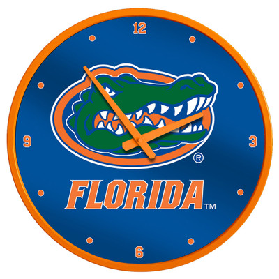 Florida Gators 17 inch Team Disc Wall Clock-Primary Logo | Grimm Industries |UF-510-01