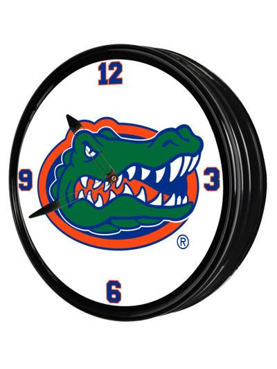 Florida Gators 19 inch Illuminated LED Team Spirit Clock-Primary Logo | Grimm Industries |UF-550-01