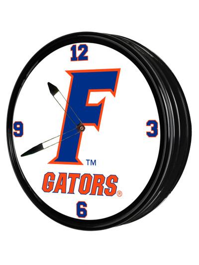 Florida Gators 19 inch Illuminated LED Team Spirit Clock-Secondary Logo | Grimm Industries |UF-550-02