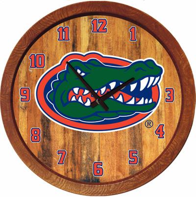 Florida Gators 20 inch Barrel Team Logo Wall Clock-Primary Logo-Color | Grimm Industries |UF-560-01