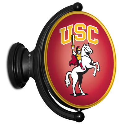 USC Trojans Rotating Illuminated LED Team Spirit Wall Sign-Oval-Traveler | Grimm Industries |US-125-03