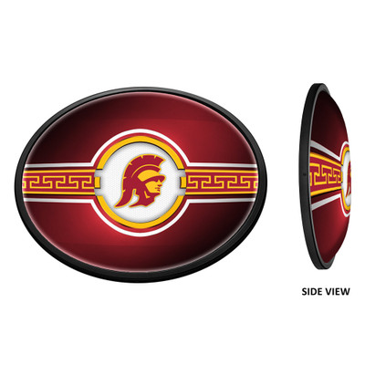 USC Trojans Slimline Illuminated LED Team Spirit Wall Sign-Oval Horizontal-Trojan | Grimm Industries |US-140-02