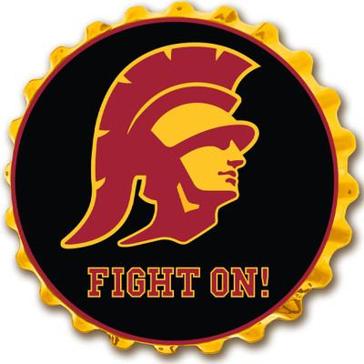 USC Trojans Team Spirit Bottle Cap Wall Sign-Trojan | Grimm Industries |US-210-04