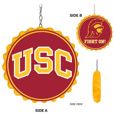 USC Trojans Team Spirit Bottle Cap Dangler-Trojan | Grimm Industries |US-220-01
