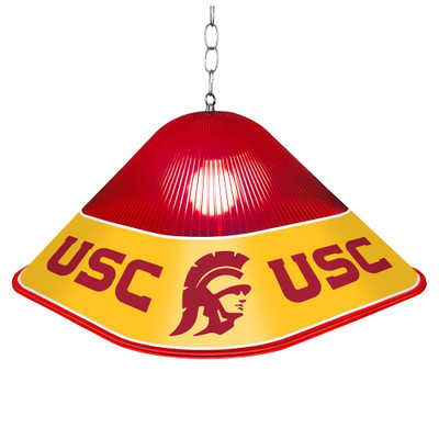 USC Trojans Game Table Light-Square-Red | Grimm Industries |US-410-01