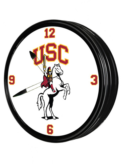 USC Trojans 19 inch Illuminated LED Team Spirit Clock-Traveler | Grimm Industries |US-550-01